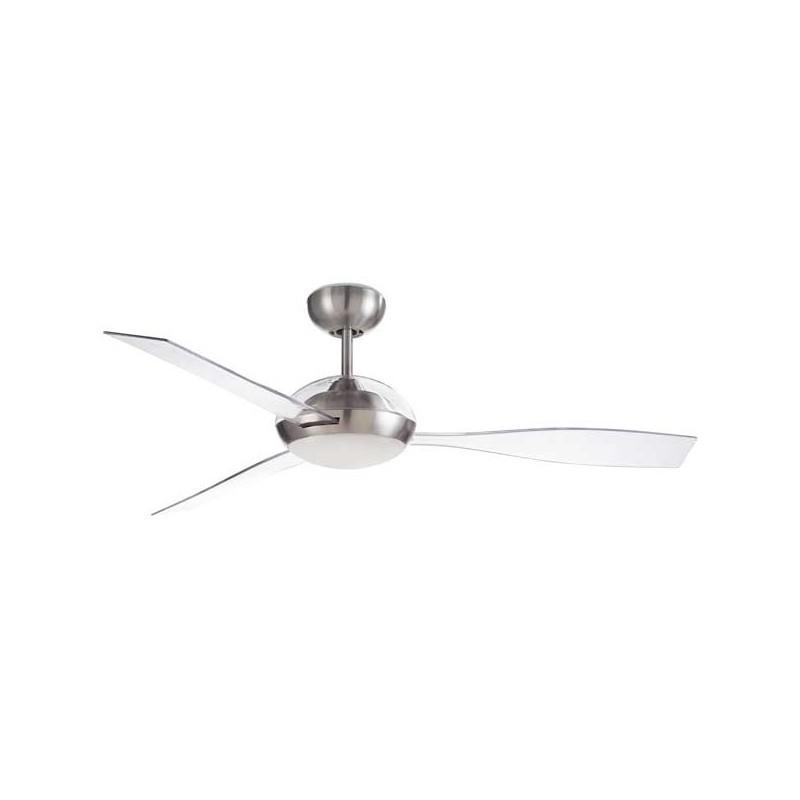 Ventilatore da soffitto DC con luce LED nichel satinato LEDS-C4 Sirocco Ø132cm