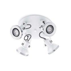 Faretti Faro Ring-4 Lamp. Parete Bianco 4 X Gu10