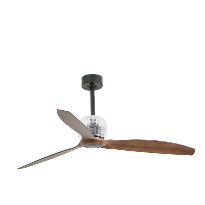 Ventilatore da soffitto Faro Deco Fan Ø1280 Mm Nero 3 Lame Legno Oscura