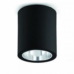 Superficie del piatto in alluminio-1 per da incasso E27 nero interno