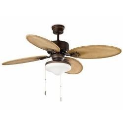 Marrone scuro con luce a soffitto ventilatore modello LOMBOK