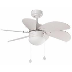 Bianco con luce soffitto ventilatore modello PALAUAN