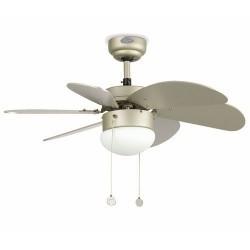 Grigio con luce soffitto ventilatore modello PALAUAN