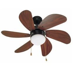 Colore marrone con luce soffitto ventilatore modello PALAUAN