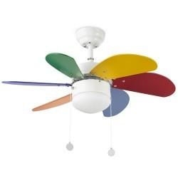 Bambino PALAUAN MULTICOLOR di luce di soffitto ventilatore modello