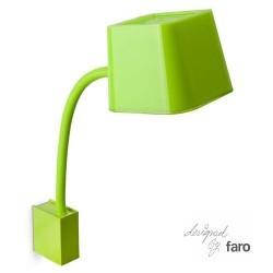 Applicare in acciaio parete FLEXI per interni E27 verde