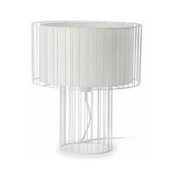 Desktop Acero-Textil LINDA per lampada E27 L interno bianco 1