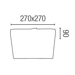 Soffitto in alluminio TOLA-1 per bagno bianco E27