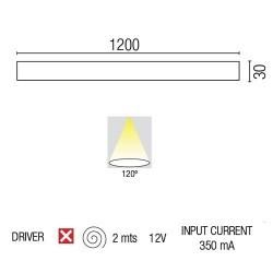 Striscia di LED alluminio BRIGHT-12