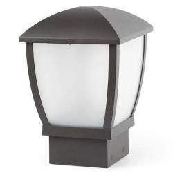 WILMA all'esterno in alluminio di E27 grigio scuro Beacon