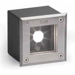 Drop-in applicazione di acciaio e alluminio die 18 LED per esterno quadrato colore matte nickel LED