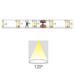 Blister strip 60 1 metro caldo bianco LED