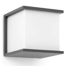 Applicare in alluminio iniettato. KUBICK E27 esterna grigio scuro
