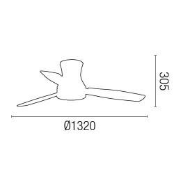 Faro 33384 TONSAY Ventilatore da soffitto bianco