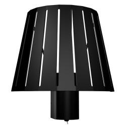 Lampada applique da parete E27 in metallo color nero - MIX