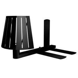 Lampada applique da scaffale porta libro E14 color nero - MIX