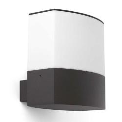 Applique E27 da esterno in alluminio, PC color grigio scuro - DATNA