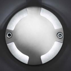 Lampada LED 80LM da superficie per parete esteriore in alluminio color nichel opaco - KEENAN-3