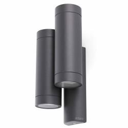 Applique 4 x GU10 da esterno in alluminio e vetro color nero - STEPS