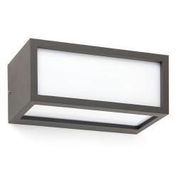 Applique E27 da esterno in alluminio e PC color grigio scuro - TEJO