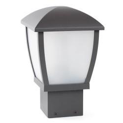 Lanterna sopra muro E27 da giardino in alluminio color grigio scuro - MINI-WILMA