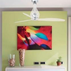 Ventilatore da soffitto con telecomando trasparente - Faro MINI-ETERFAN