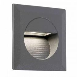 Lampada LED a incasso Ø75mm da esterno grigio scuro - MINI CARTER