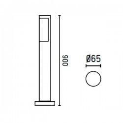 Lampioncino LED 900mm grigio scuro - BERET