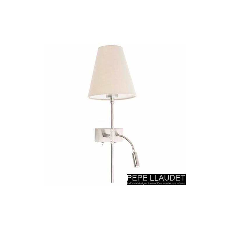 Distributore all 39 ingrosso di illuminazione applique da parete con led lettura nichel opaco - Applique da parete led ...