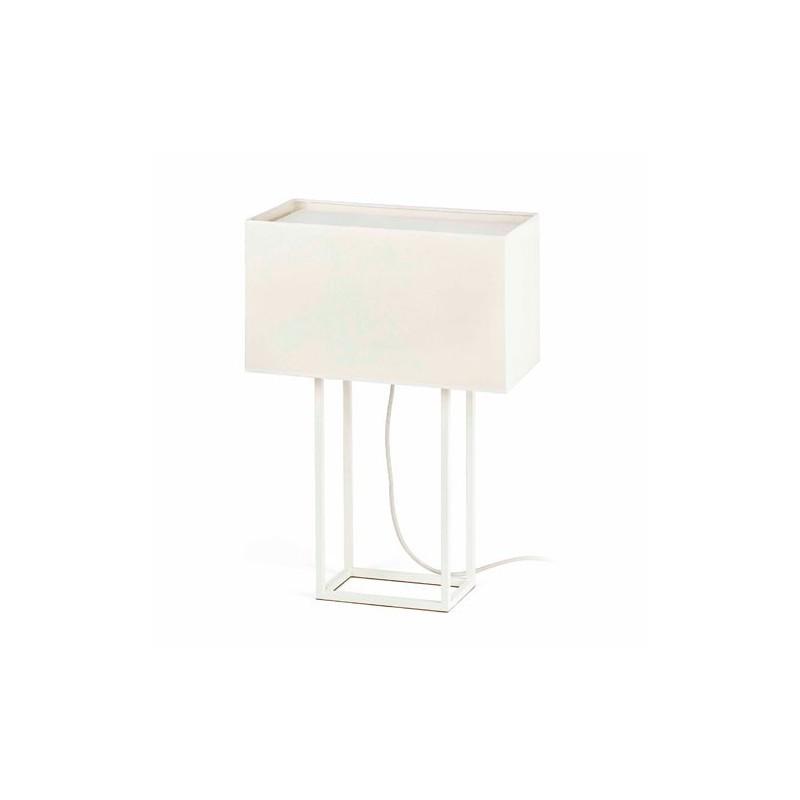 Lampada da tavolo, bianco + beige - VESPER