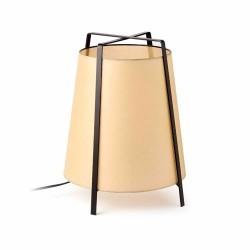 Lampada da tavolo 350mm in papiro nero+beige - AKANE