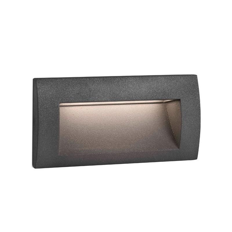 Lampada a incasso led da esterno grigio scuro sedna 2 for Lampade led incasso