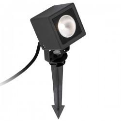 Faretto a picchetto LED da giardino nero SOBEK