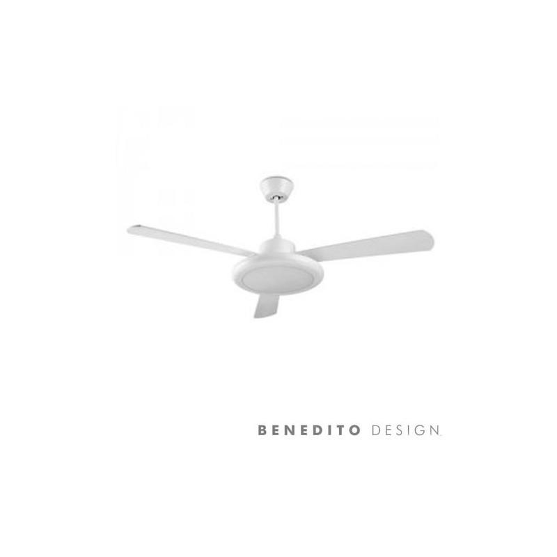 Distributore All Ingrosso Ventilatore Da Soffitto Con Luce E Telecomando Color Bianco Bahia