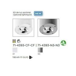 Kit luce LED AR111 per ventilatore da soffitto Formentera grigio