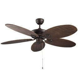 Ventilatore da soffitto per esterni color marrone rattan - PHUKET