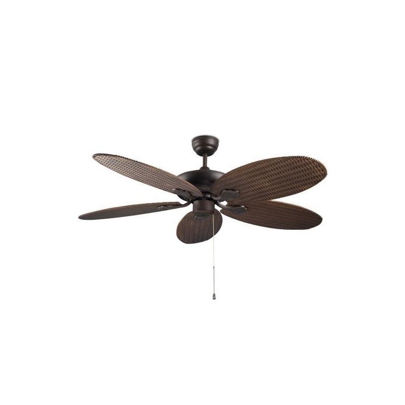 High Quality Ventilatore Da Soffitto Per Esterni Color Marrone Rattan   PHUKET
