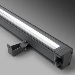 Plafoniera / applique 94mm T5 39W in alluminio color grigio urbano