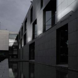 Plafoniera / applique 153mm T5 80W in alluminio color grigio urbano